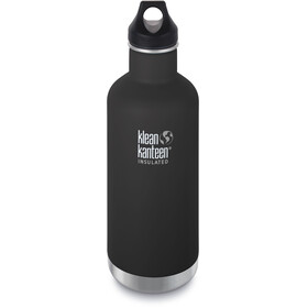 Klean Kanteen Classic Vacuum Insulated Drinkfles Loop Cap 946ml zwart